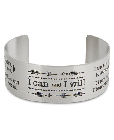 I can nd I will Inspirational Cuff Bracelet