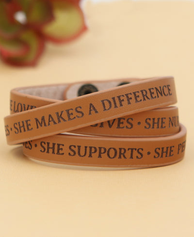 She Makes a Difference Inspirational Bracelet