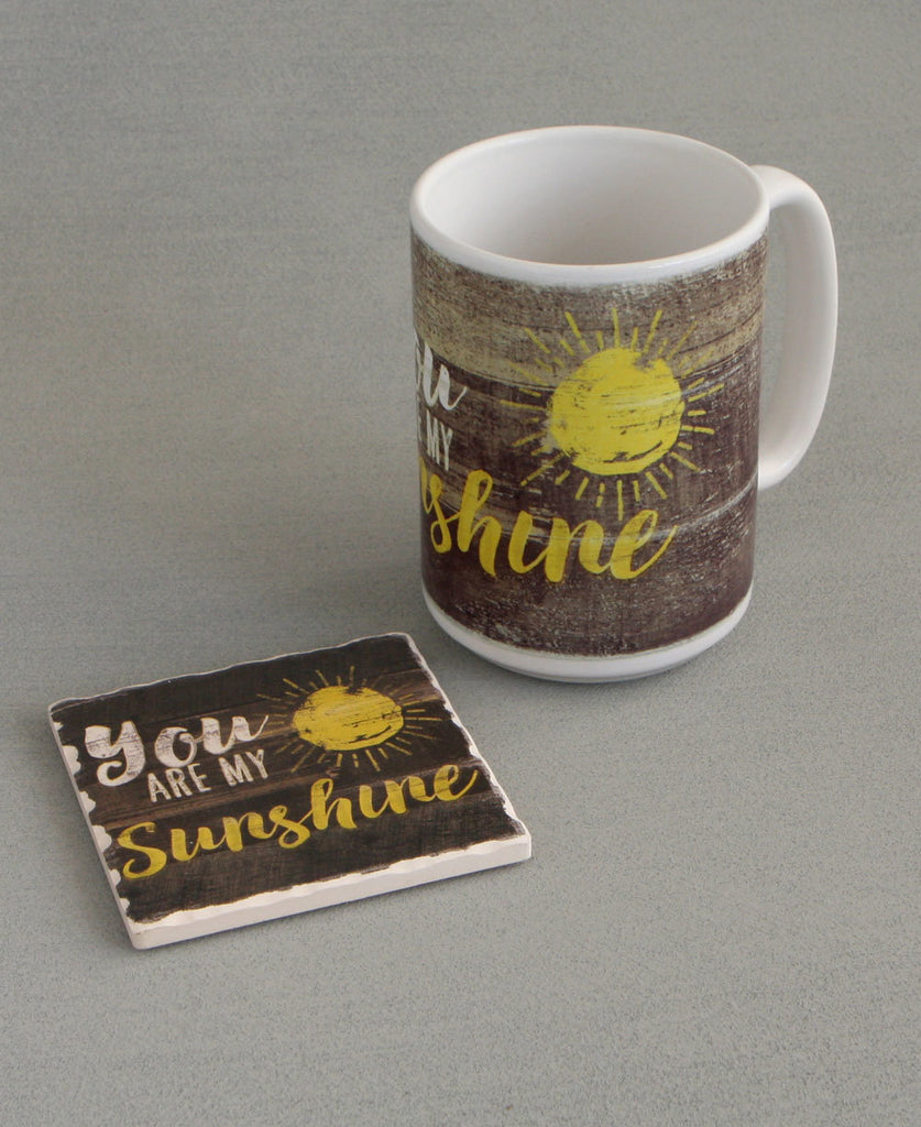 You Are My Sunshine Mug and Coaster Set