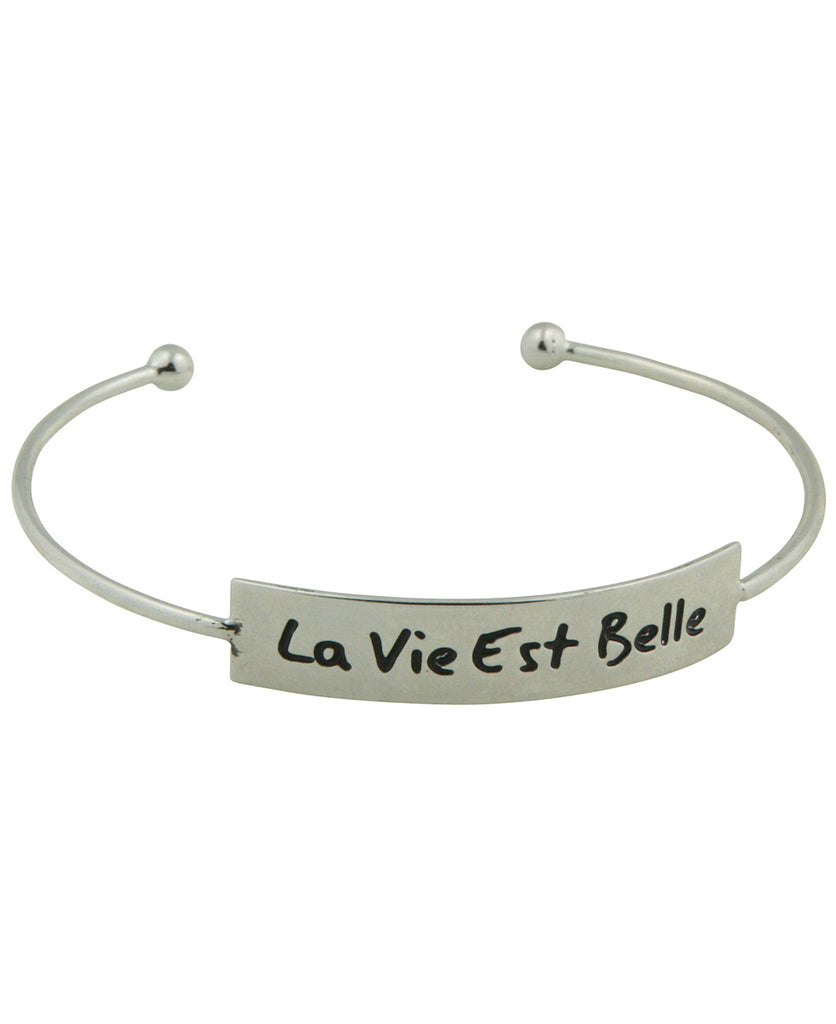 Life is Beautiful Cuff Bracelet