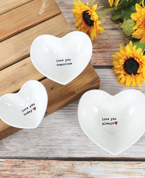 Heart Shaped Nesting Bowls
