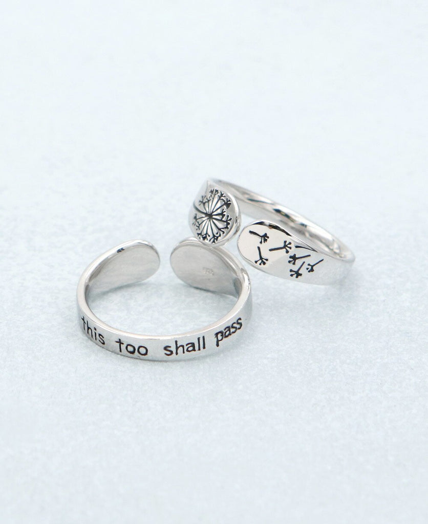 Petite Size This Too Shall Pass Sterling Silver Mantra Ring