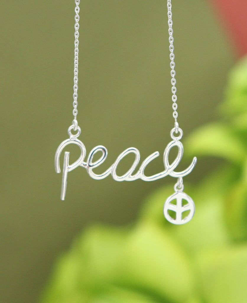 Peace Script Necklace