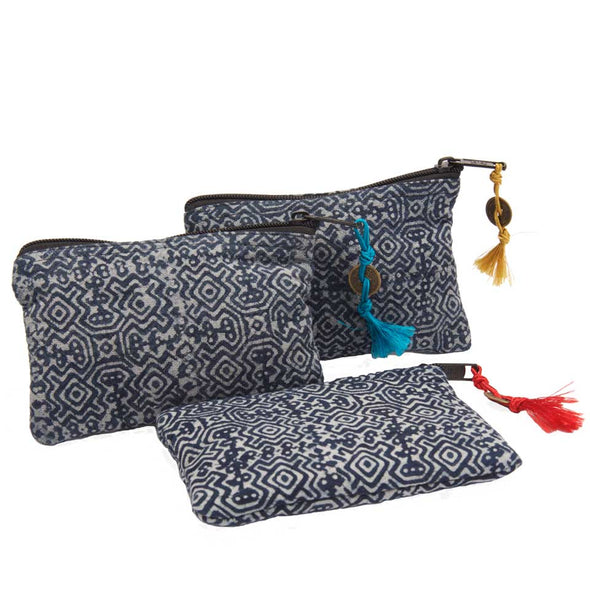 Accessories Indigo Batik Pouch
