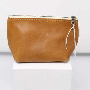Accessories Leather Travel Pouches - Camel