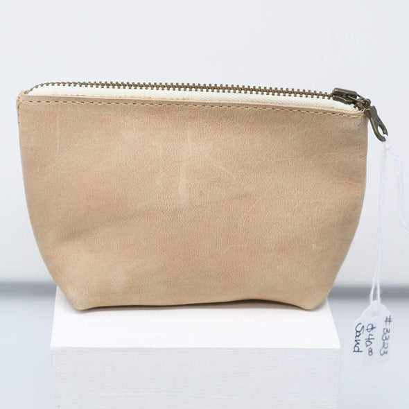 Accessories Leather Travel Pouches - Sand