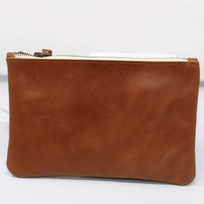 Accessories Leather Wristlet - Cognac