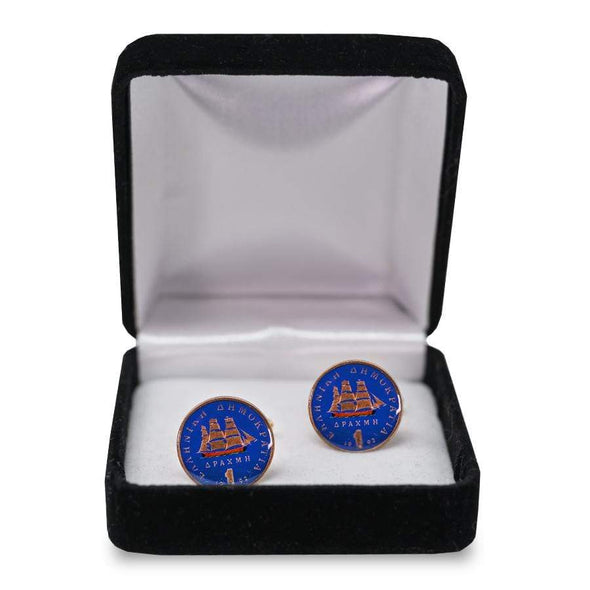 Painted Coin Cufflinks