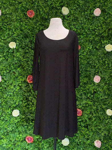 Apparel BLACK SPLIT SLEEVE DRESS