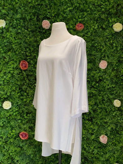 Apparel Linen Boat Neck Tunic