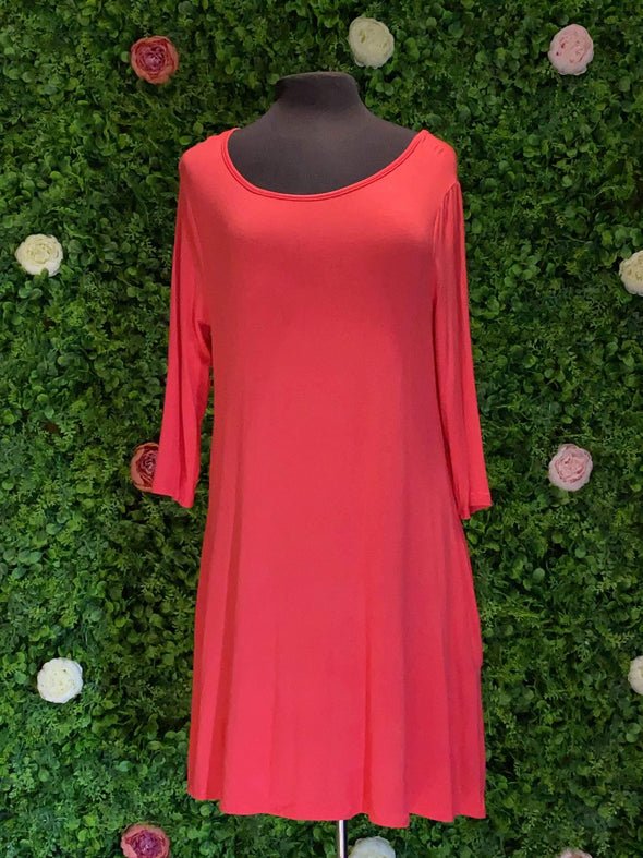 Apparel Long Sleeve Coral Dress