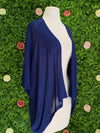 Apparel Navy Cardigan Cape