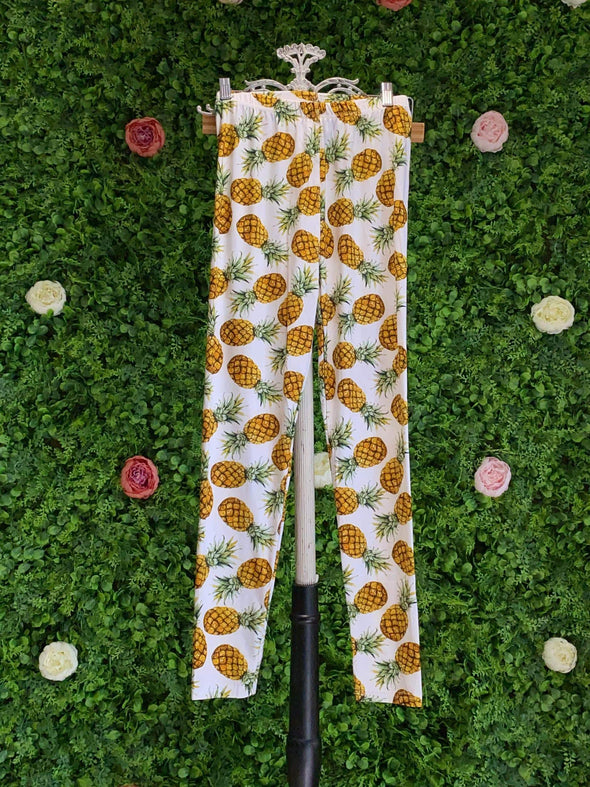 Apparel Pineapple Print Leggings - One Size