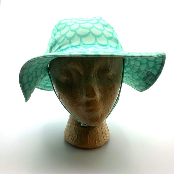 Children Flap Happy Mermaid Hat - Ocean Blue