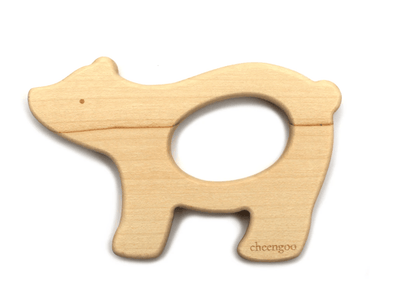 Children Polar Bear Wooden Teether
