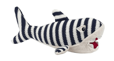 Children Striped Knit Shark Rattle