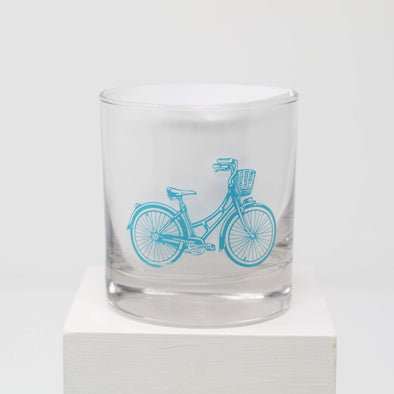 Kitchen Bicycle Rocks Glass
