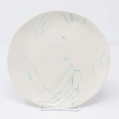 Kitchen Embossed Crab Plate