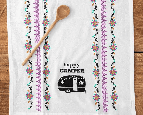 Kitchen Happy Camper Flour Sack Towel