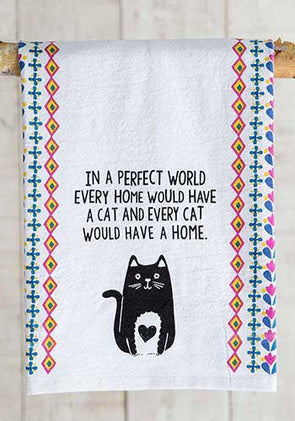 Kitchen Perfect World Cat Tea Towel