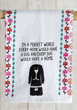 Kitchen Perfect World Dog Tea Towel