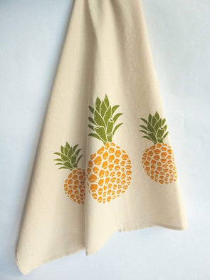 Kitchen Pineapple Print Tea Towel