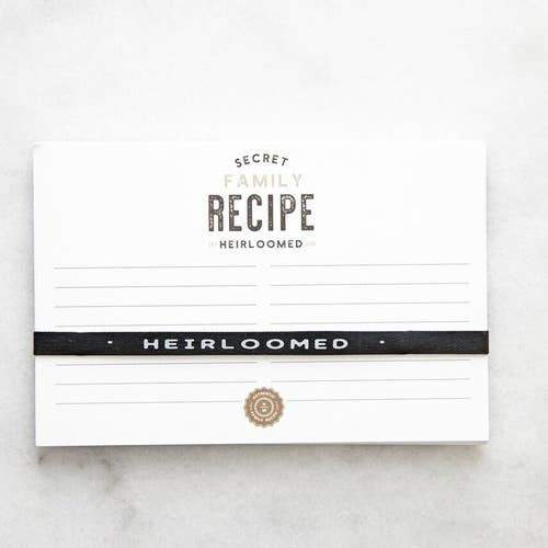 Kitchen Recipe Cards and Stand