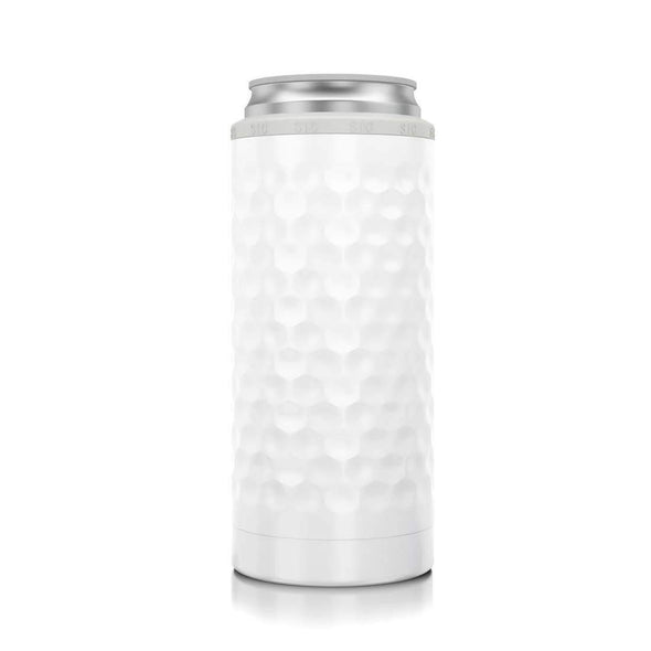Kitchen Slim Can Cooler - Dimpled White