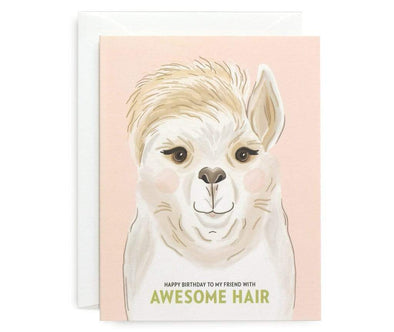 Stationery Awesome Llama Birthday Card