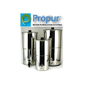 ProPur Traveler Stainless Steel Water Purification with 1 ProOne 5-Inch Hi-Performance Filter Element for Chemical and Fluoride Removal