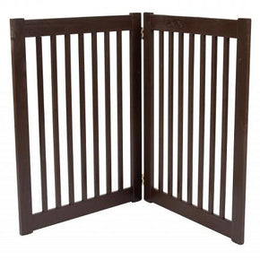 Two Panel EZ Pet Gate - Large/Mahogany