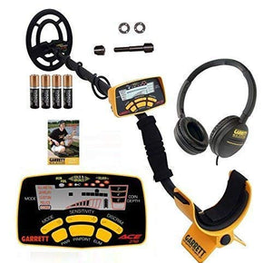 Garrett ACE 250 Metal Detector with Submersible Search Coil Plus Headphones