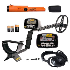 Garrett AT Gold Waterproof Metal Detector with Headphones and ProPointer AT PinPointer