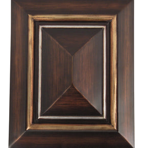 Teiber Dark Oak W/ Hand Painted Gold & Silver Trim CH1202-DO