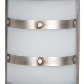 Teiber Metal Chime With Frosted White Glass Pewter CH1405-PT