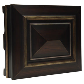 Teiber Large Dark Oak W/ Gold And Silver Trim CH5202-DO