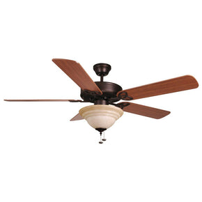 Ellington 52'' Ceiling Fan w/ Tea-stained Bowl Light Kit (Blades Included) BLD52ABZ5C1