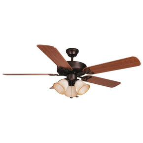 Ellington 52'' Ceiling Fan w/ 3 Tea-stained Bowl Light Kit (Blades Included) BLD52ABZ5C3