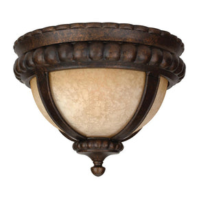 Exteriors Prescott 1 Light Medium Flushmount Peruvian Bronze Z1217-112
