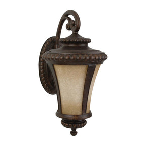 Exteriors Prescott 1 Light Large Wall Mount Peruvian Bronze Z1224-112