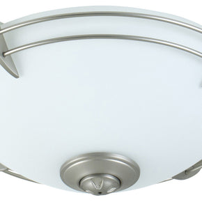 Craftmade Modern Metal Rim Bowl Kit with CFL Bulbs and Opal White Glass LK207CFL