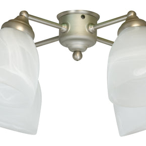 Craftmade 4 Light Kit with Alabaster Glass LK401CFL