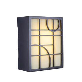 Teiber LED Hand Carved Geometric w/Frosted Glass 2 Note Chime ICH1660-OB