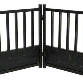 Royal Weave Freestanding Dog Gate - Black
