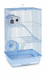 Three Story Hamster & Gerbil Cage - Yellow