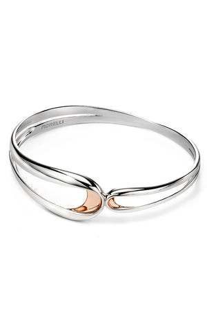 Rose folded detail bangle
