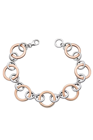 Multi link rose gold plated bracelet