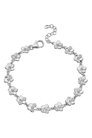 3D cherry blossom bracelet with CZ centre