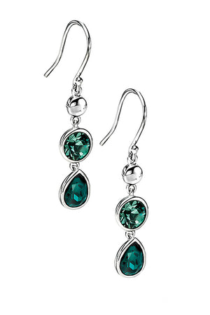 Emerald & erinite swarovski drop earring