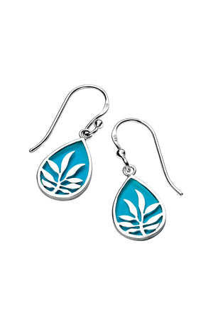 Blue Enamel Teardrop Earring